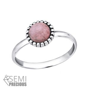 OLIVIE Stříbrný prstýnek RHODONITE 4413 Ag 925; ≤1 g.
