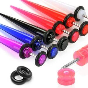 Fake expander z UV akrylu - Barva piercing: Černá