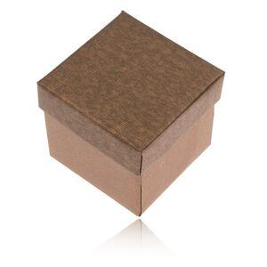 Matná krabička na prsten, náušnice a přívěsek v bronzovém odstínu